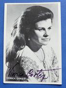 Autografo Della Cantante Lirica Mezzo-soprano Viorica Cortez - Anni '70 - Autographes
