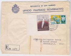 SAN MARINO 26.4.1955 Busta Raccomandata Per Gli USA - San Marino