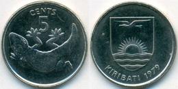 Kiribati 5 Cents 1979 UNC Gecko - Kiribati