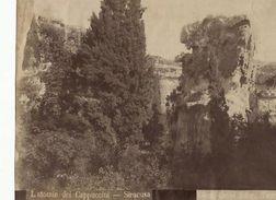 Foto Albumina Giovanni Crupi Latomie Cappuccini 1890 Ca - Foto
