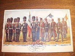 Cartolina Militaria - Granatieri Di Sardegna - 1910 Ca. - Regiments