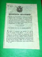 Decreti Regno Sardegna Torino Manifesto Convenzione Emigrazione Svezia 1843 - Vieux Papiers