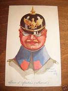 Cartolina Militaria Copricapo Uniformi Germania 1914 - Reggimenti