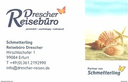 SNAIL SHELL CLAM PEARL OYSTER STARFISH BUTTERFLY ANIMAL TRAVEL BUREAU ERFURT CALENDAR Reiseburo Drescher 2016 * Germany - Tamaño Pequeño : 2001-...