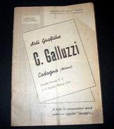 Catalogo D'epoca Cartolina - Cancelleria - Arti Grafiche C. Galluzzi - 1951 - Cartes Postales