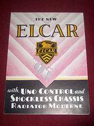 Collezionismo - Brochure Auto ELCAR Mod. 95 - Anni 1930 Ca - Publicités
