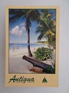 WEST INDIES ANTIGUA DICKENSON BAY BEACH PLAGE YEAR 1991 POSTCARD Z1 - Postcards