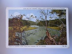 PANAMÁ VIEW OF CHAGRES RIVER NEAR PALO GRANDE 1910 YEARS POSTCARD Z1 - Postcards