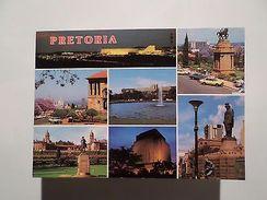 SOUTH AFRICA AFRIQUE DU SUD SUID AFRIKA PRETORIA MULTI VIEWS 1960 YEARS PC Z1 - Postcards