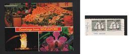 Postcard Year 1982 Stamp Ships Ship SINGAPORE Fruits Fruit Flower Flowers - Postcards