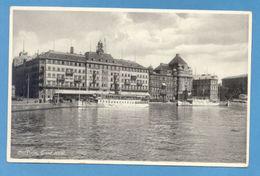 POSTCARD SVERIGE SWEDEN STOCKHOLM & STEAM SHIP BOAT 30s - Postcards