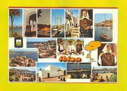 POSTCARD MULTI VIEWS IBIZA SPAIN ESPAÑA 80s - Postcards