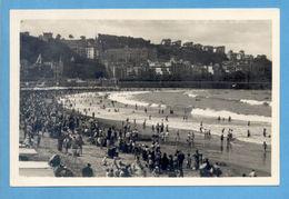 SPAIN ESPAÑA SAN SEBASTIAN BEACH VIEW 1940s POSTCARD PC - Postcards