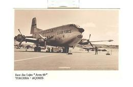 PHOTO PC PORTUGAL AZORES TERCEIRA LAJES USAF AIRPLANE - Postcards