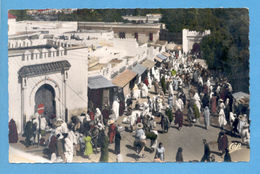 AFRICA MOROCCO TANGER NATIVE MARKET 1950 YEARS POSTCARD AFRIKA AFRIQUE - Unclassified