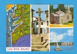 POSTCARD SPAIN ESPAÑA GALICIA LAS RIAS BAJAS MAPS MAP ESPANA - Postcards