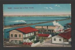 PC 1910s EGYPT SUEZ PORT TEWFIK Steam Train Railroad Railway  AFRICA - Postcards