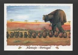 ART NAIF - POSTCARD PORTUGAL  ALENTEJO POTS COOKING LUNCH - Postcards