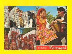 Postcard PORTUGAL MINHO VIANA DO  CASTELO FOLK Music Accordion 60s - Postcards