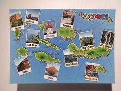 POSTCARD PORTUGAL Maps Map AZORES ISLANDS AÇORES AZOREN Z1 - Postcards