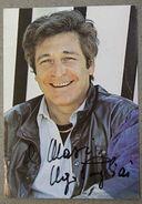 Autografo Su Cartolina Attore Ugo Pagliai Anni '80 - Autographs