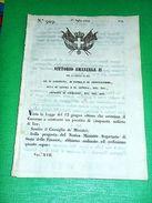 Decreti Regno Sardegna Torino Buoni Del Tesoro Da L. 100 1849 - Non Classificati