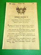 Decreti Regno Sardegna - Torino Modificazioni Daziarie Riguardo Ai Cereali 1854 - Vecchi Documenti