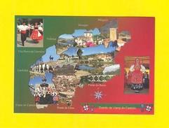 POSTCARD PORTUGAL MAPS MAP VIANA DO CASTELO MINHO CAMINHA VALENÇA MONÇÃO MELGAÇO - Postcards