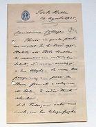 Autografo Lettera Giberto Borromeo 1935 - Autographes