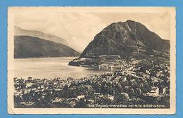 REAL PHOTO POSTCARD SUISSE SWITZERLAND LUGANO VIEW 1954 - Postcards