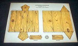 Marca Stella Gioco Costruzioni Geometriche N° 4 Prisma - 1930 Ca. - Giocattoli Antichi