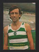SPORTING CLUB PORTUGAL SOCCER STADIUM 1981  OLYMPIC ATHLETE FERNANDO MAMEDE  Z1 - Postcards