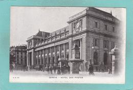 Old Postcard Of Hotel Des Postes,Geneve,Geneva, Switzerland,V38. - GE Ginevra