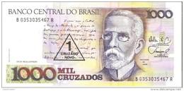 Brazil - Pick 216b - 1000 Cruzados = 1 Cruzado Novo 1989 - Unc - Brésil