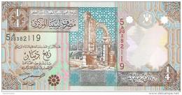 Libya - Pick 62 - 1/4 Dinar 2002 - Unc - Libia