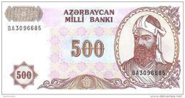 Azerbaijan - Pick 19b - 500 Manat 1993 - Unc - Azerbaïdjan