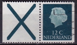 1968 Combinatie Kruis + 12 Cent Groen Gewoon Papier Uit PB 7 NVPH C 43 - Carnets Et Roulettes