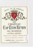 AC ( Etiquette De Vin )  - B2839-  Chateau Cap Leon Veyrin  - Listrac  Médoc - Bordeaux