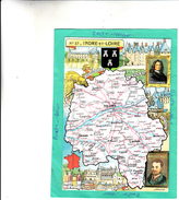 CARTE DEPARTEMENT INDRE ET LOIRE TOURS LOCHES CHINON ST MAURE RICHELIEU - France