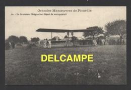 DF / TRANSPORTS / AVIATION / AVIONS / LE LIEUTENANT BRÉGUET AU DÉPART DE SON APPAREIL ( BIPLAN ) - Avions