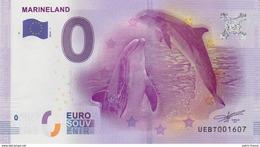 France - Billet Touristique 0 Euro 2016 - Marineland Antibes N°96 - EURO