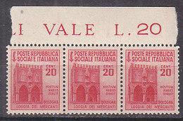 PGL AY121 - ITALIA RSI SASSONE N°504 ** STRISCIA - 4. 1944-45 Repubblica Sociale