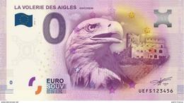 France - Billet Touristique 0 Euro 2016 - La Volerie Des Aigles Kintzheim - EURO