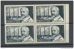FRANCE -  CALMETTE - N° Yvert  814** EN BLOC DE 4 - Unused Stamps
