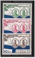 Soudan - 1975 - N°Yv. 278 à 280 - Révolution - Neuf Luxe ** / MNH / Postfrisch - Soudan (1954-...)