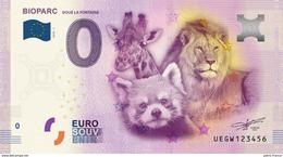 France - Billet Touristique 0 Euro 2016 - Bioparc Doué La Fontaine - EURO