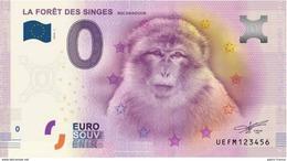 France - Billet Touristique 0 Euro 2016 - La Forêt Des Singes Rocamadour - EURO