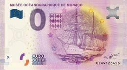 France - Billet Touristique 0 Euro MONACO 2015 Musée Océanographique Navire Princesse Alice - EURO