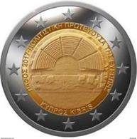 """Pièce  Commémorative  2 Euro Chypre 2017 UNC  """"   Paphos """" - Cyprus"""