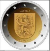 """Pièce  Commémorative  2 Euro Lettonie  2017 UNC  """" Région  Latgale """" - Lettonie"""